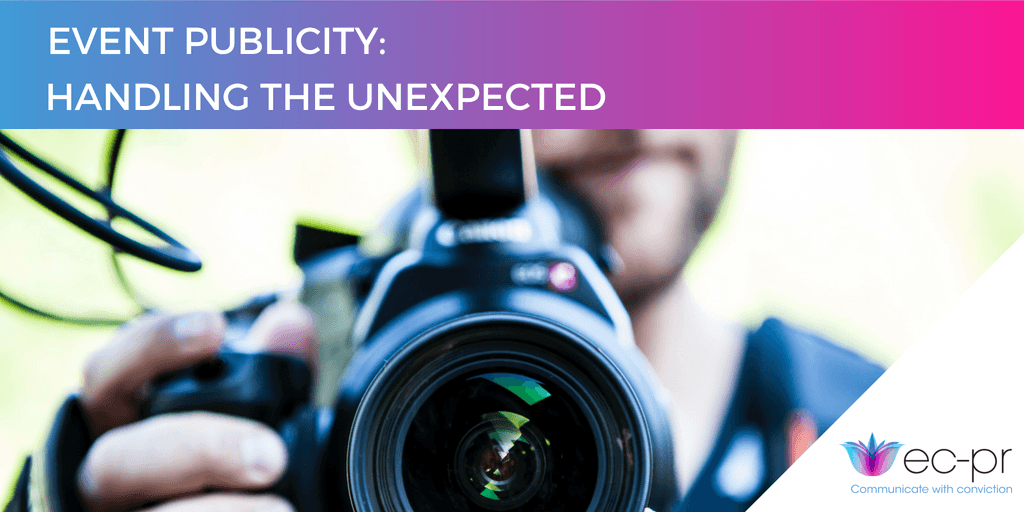 Close-up camera: handling the unexpected event publicity