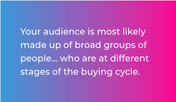 Your audience is ...article quote