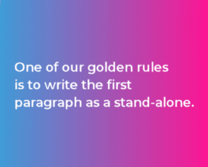 One of our golden rules excerpt