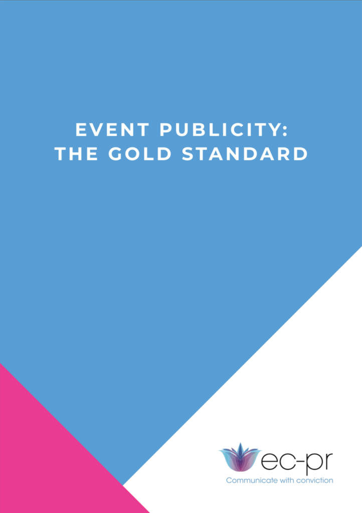 Event Publicity - The Gold Standard cover