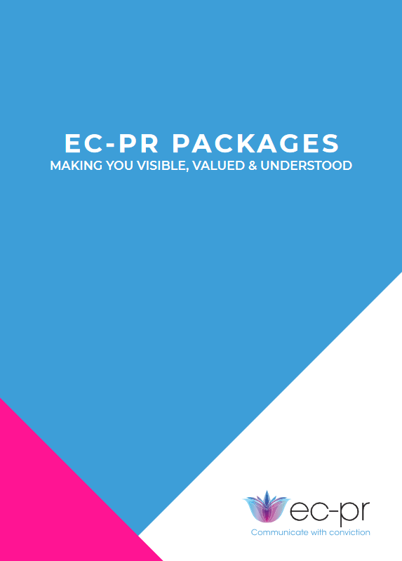 EC-PR Packages - B2B PR Pricing Guide - front cover