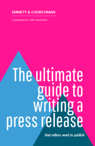 the ultimate guideto writing a press release front cover