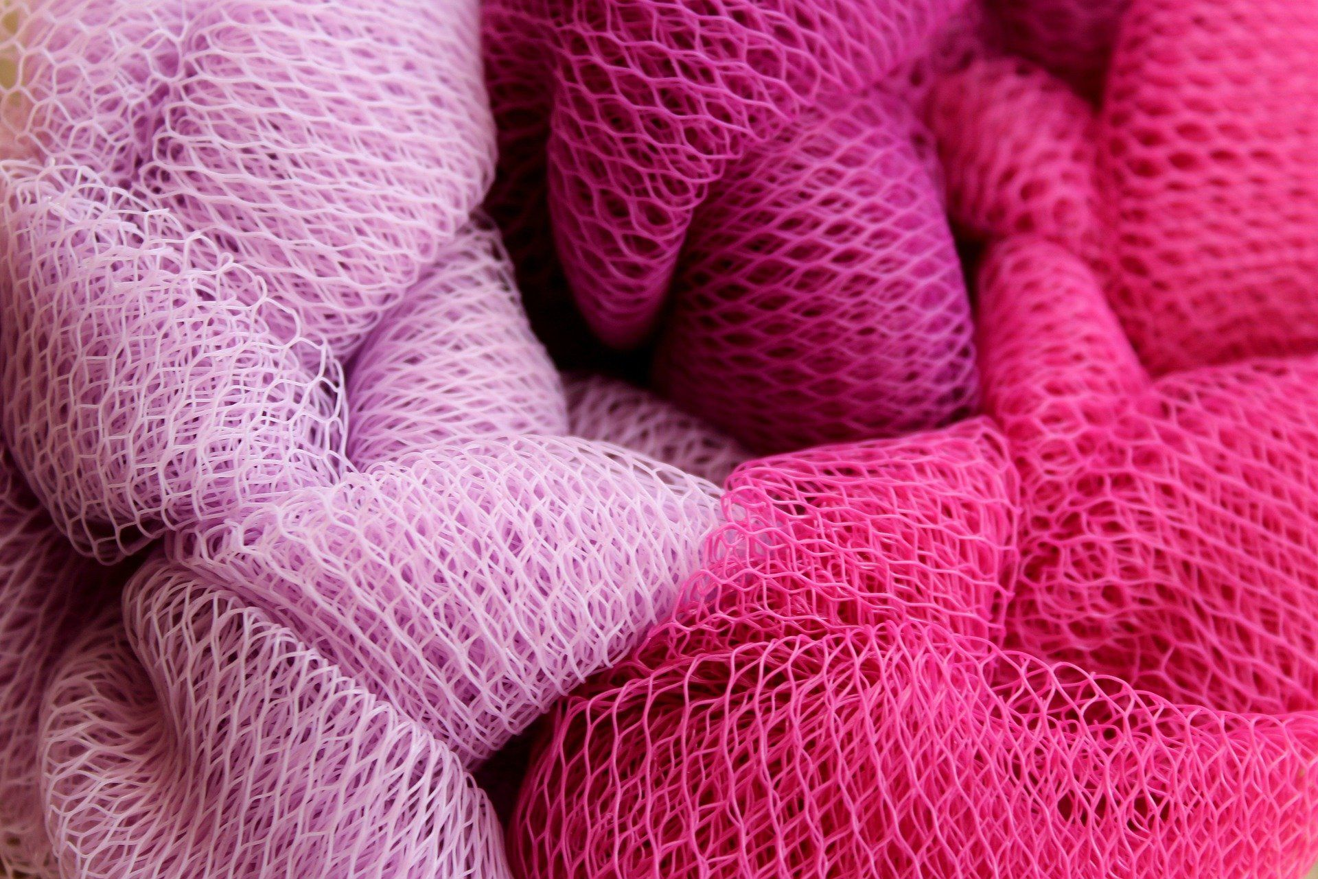 pink fishing nets