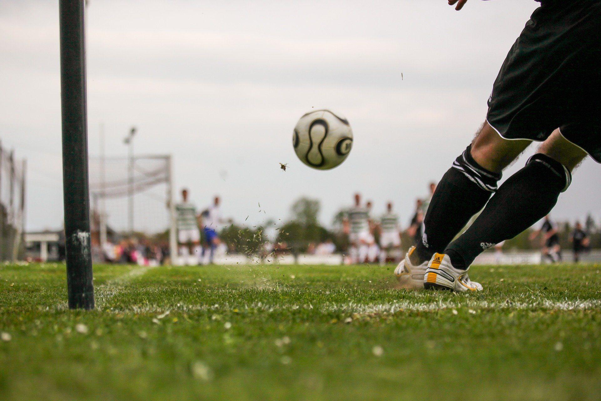 goalkeeper in a football net