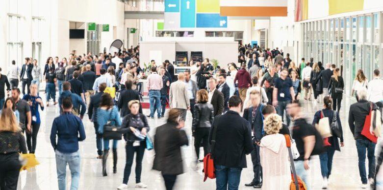 Trade show crowds